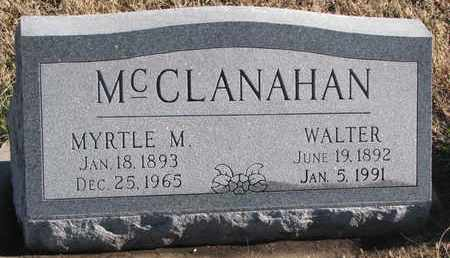 MCCLANAHAN, WALTER - Bon Homme County, South Dakota | WALTER MCCLANAHAN - South Dakota Gravestone Photos