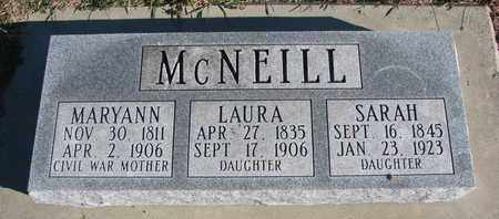 MCNEILL, SARAH - Bon Homme County, South Dakota | SARAH MCNEILL - South Dakota Gravestone Photos