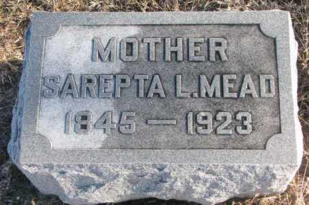 MEAD, SAREPTA L. - Bon Homme County, South Dakota   SAREPTA L. MEAD - South Dakota Gravestone Photos