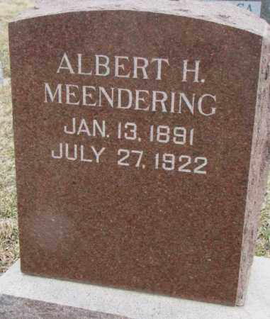 MEENDERING, ALBERT H. - Bon Homme County, South Dakota | ALBERT H. MEENDERING - South Dakota Gravestone Photos