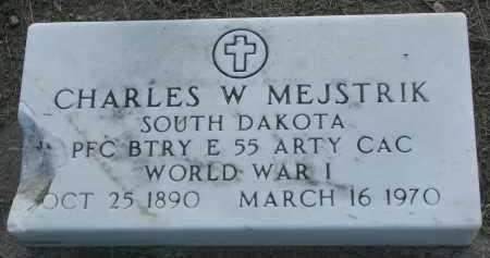 MEJSTRIK, CHARLES W. - Bon Homme County, South Dakota | CHARLES W. MEJSTRIK - South Dakota Gravestone Photos