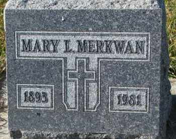 MERKWAN, MARY L. - Bon Homme County, South Dakota | MARY L. MERKWAN - South Dakota Gravestone Photos