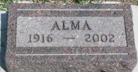 METCALF, ALMA - Bon Homme County, South Dakota | ALMA METCALF - South Dakota Gravestone Photos