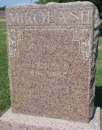 MIKOLASH, AGNES - Bon Homme County, South Dakota | AGNES MIKOLASH - South Dakota Gravestone Photos