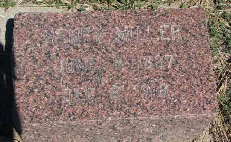 MILLER, HENRY - Bon Homme County, South Dakota | HENRY MILLER - South Dakota Gravestone Photos