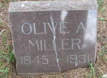 MILLER, OLIVE A. - Bon Homme County, South Dakota   OLIVE A. MILLER - South Dakota Gravestone Photos