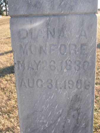 MONFORE, DIANA A. (CLOSEUP) - Bon Homme County, South Dakota   DIANA A. (CLOSEUP) MONFORE - South Dakota Gravestone Photos
