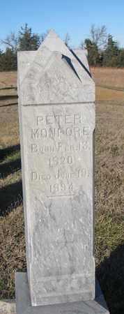 MONFORE, PETER - Bon Homme County, South Dakota | PETER MONFORE - South Dakota Gravestone Photos