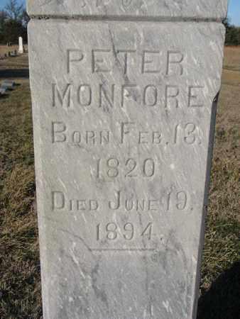 MONFORE, PETER (CLOSEUP) - Bon Homme County, South Dakota   PETER (CLOSEUP) MONFORE - South Dakota Gravestone Photos