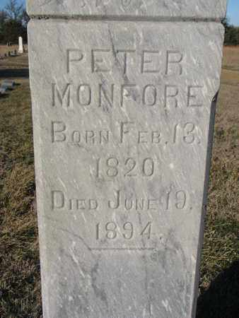 MONFORE, PETER (CLOSEUP) - Bon Homme County, South Dakota | PETER (CLOSEUP) MONFORE - South Dakota Gravestone Photos