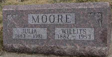 MOORE, WILLITS - Bon Homme County, South Dakota | WILLITS MOORE - South Dakota Gravestone Photos