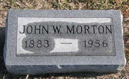 MORTON, JOHN W. - Bon Homme County, South Dakota   JOHN W. MORTON - South Dakota Gravestone Photos