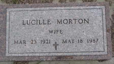 MORTON, LUCILLE - Bon Homme County, South Dakota   LUCILLE MORTON - South Dakota Gravestone Photos