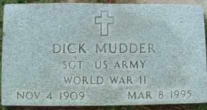 MUDDER, DICK - Bon Homme County, South Dakota | DICK MUDDER - South Dakota Gravestone Photos