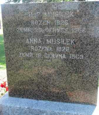 MUSILEK, ANNA - Bon Homme County, South Dakota | ANNA MUSILEK - South Dakota Gravestone Photos