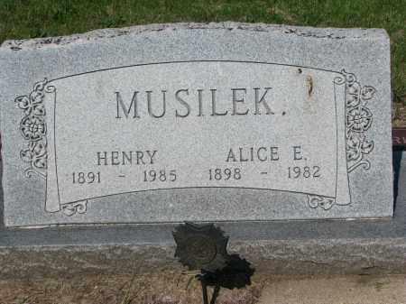 MUSILEK, ALICE E. - Bon Homme County, South Dakota   ALICE E. MUSILEK - South Dakota Gravestone Photos