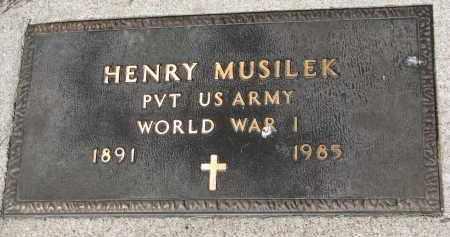 MUSILEK, HENRY (WW I) - Bon Homme County, South Dakota | HENRY (WW I) MUSILEK - South Dakota Gravestone Photos
