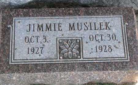 MUSILEK, JIMMIE - Bon Homme County, South Dakota | JIMMIE MUSILEK - South Dakota Gravestone Photos