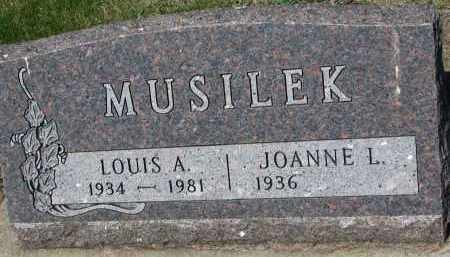 MUSILEK, JOANNE L. - Bon Homme County, South Dakota | JOANNE L. MUSILEK - South Dakota Gravestone Photos