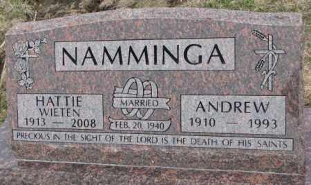 NAMMINGA, ANDREW - Bon Homme County, South Dakota | ANDREW NAMMINGA - South Dakota Gravestone Photos