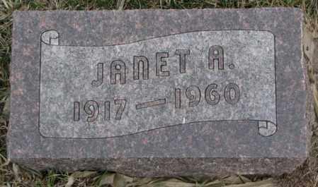 NAMMINGA, JANET A. - Bon Homme County, South Dakota | JANET A. NAMMINGA - South Dakota Gravestone Photos