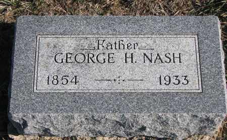 NASH, GEORGE H. - Bon Homme County, South Dakota | GEORGE H. NASH - South Dakota Gravestone Photos