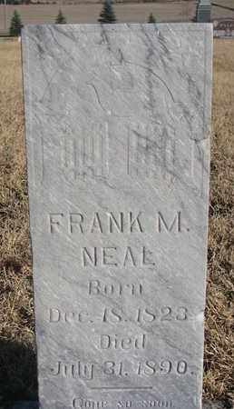 NEAL, FRANK M. - Bon Homme County, South Dakota   FRANK M. NEAL - South Dakota Gravestone Photos