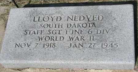 NEDVED, LLOYD - Bon Homme County, South Dakota | LLOYD NEDVED - South Dakota Gravestone Photos
