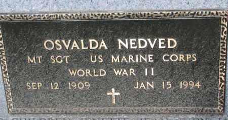 NEDVED, OSVALDA (WW II) - Bon Homme County, South Dakota | OSVALDA (WW II) NEDVED - South Dakota Gravestone Photos
