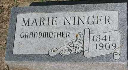 NINGER, MARIE - Bon Homme County, South Dakota | MARIE NINGER - South Dakota Gravestone Photos