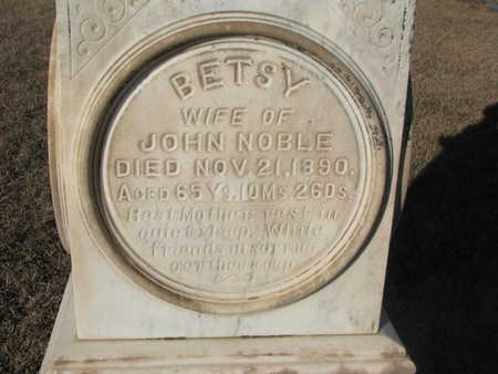 NOBLE, BETSEY (INSCRIPTION) - Bon Homme County, South Dakota   BETSEY (INSCRIPTION) NOBLE - South Dakota Gravestone Photos