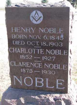 NOBLE, CHARLOTTE - Bon Homme County, South Dakota | CHARLOTTE NOBLE - South Dakota Gravestone Photos