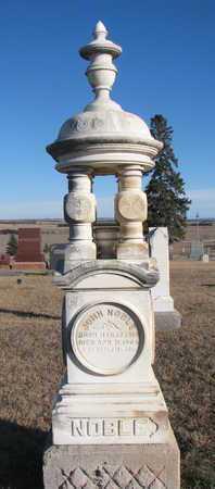 NOBLE, JOHN (FULL STONE) - Bon Homme County, South Dakota | JOHN (FULL STONE) NOBLE - South Dakota Gravestone Photos