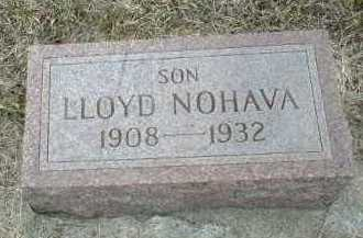 NOHAVA, LLOYD - Bon Homme County, South Dakota | LLOYD NOHAVA - South Dakota Gravestone Photos