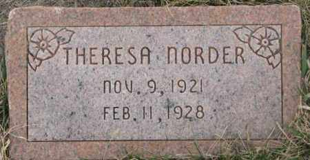NORDER, THERESA - Bon Homme County, South Dakota | THERESA NORDER - South Dakota Gravestone Photos