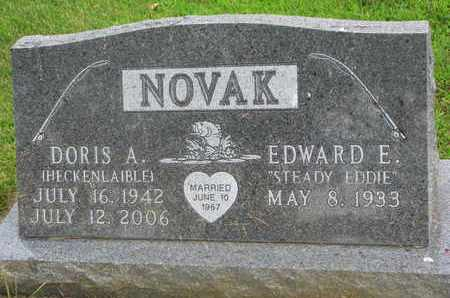 NOVAK, EDWARD E. - Bon Homme County, South Dakota | EDWARD E. NOVAK - South Dakota Gravestone Photos