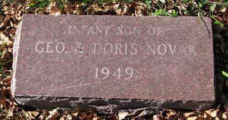 NOVAK, INFANT SON - Bon Homme County, South Dakota | INFANT SON NOVAK - South Dakota Gravestone Photos