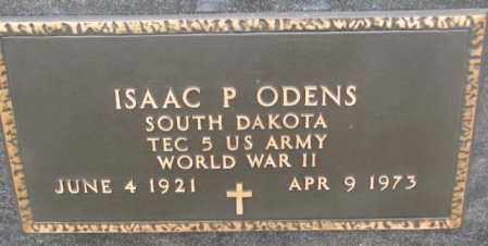 ODENS, ISAAC P. (WW II) - Bon Homme County, South Dakota   ISAAC P. (WW II) ODENS - South Dakota Gravestone Photos