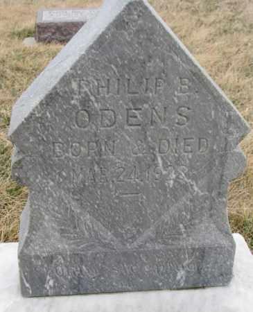 ODENS, PHILIP B. - Bon Homme County, South Dakota   PHILIP B. ODENS - South Dakota Gravestone Photos