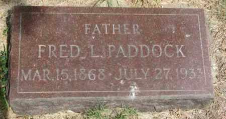 PADDOCK, FRED L. - Bon Homme County, South Dakota | FRED L. PADDOCK - South Dakota Gravestone Photos