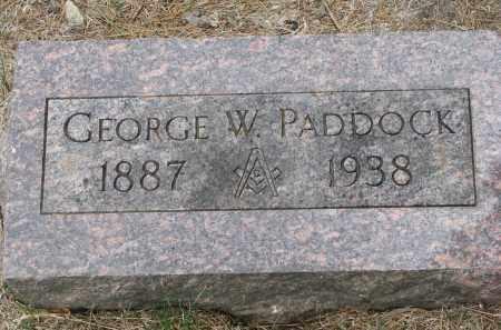 PADDOCK, GEORGE W. - Bon Homme County, South Dakota   GEORGE W. PADDOCK - South Dakota Gravestone Photos