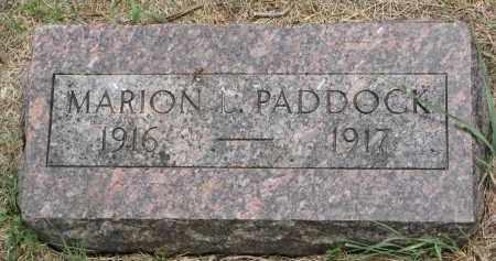 PADDOCK, MARION - Bon Homme County, South Dakota | MARION PADDOCK - South Dakota Gravestone Photos