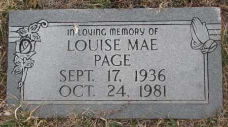 PAGE, LOUISE MAE - Bon Homme County, South Dakota | LOUISE MAE PAGE - South Dakota Gravestone Photos
