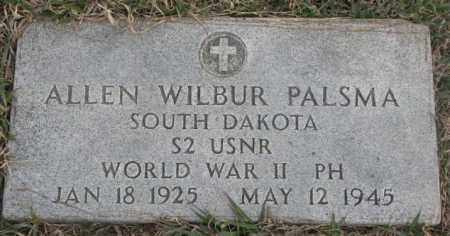 PALSMA, ALLEN WILBUR (WW II) - Bon Homme County, South Dakota | ALLEN WILBUR (WW II) PALSMA - South Dakota Gravestone Photos