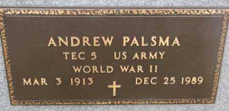 PALSMA, ANDREW (WW II) - Bon Homme County, South Dakota   ANDREW (WW II) PALSMA - South Dakota Gravestone Photos