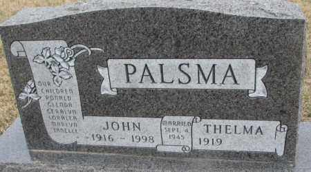 PALSMA, JOHN - Bon Homme County, South Dakota | JOHN PALSMA - South Dakota Gravestone Photos