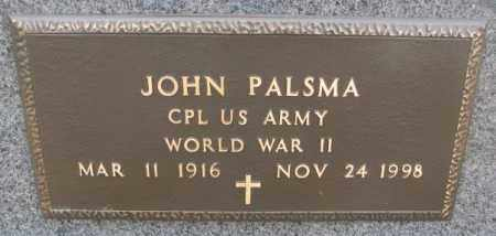 PALSMA, JOHN - Bon Homme County, South Dakota | JOHN PALSMA - South Dakota Gravestone Photos