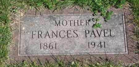 PAVEL, FRANCES - Bon Homme County, South Dakota   FRANCES PAVEL - South Dakota Gravestone Photos