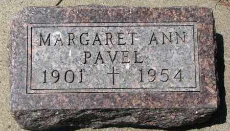 PAVEL, MARGARET ANN - Bon Homme County, South Dakota | MARGARET ANN PAVEL - South Dakota Gravestone Photos