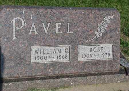 PAVEL, WILLIAM C. - Bon Homme County, South Dakota | WILLIAM C. PAVEL - South Dakota Gravestone Photos